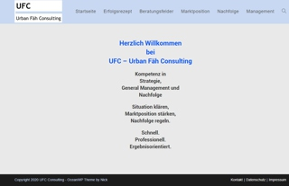 UFC - Urban Fäh Consulting - www.ufc-consulting.ch